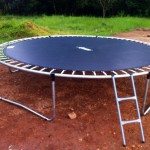 12 foot caged trampoline